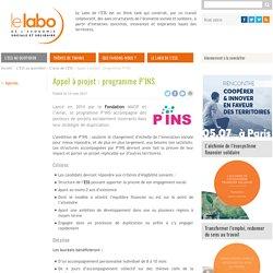 Appel à projet : programme P'INS