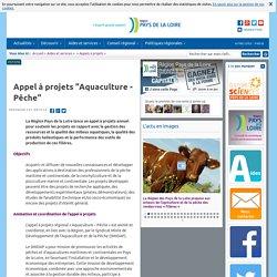 """Appel à projets """"Aquaculture - Pêche"""""""