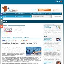 Appel à projets CLOM / MOOC 2015 de l'AUF