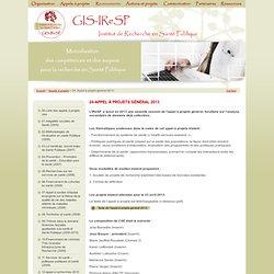 Appel à projets général 2013