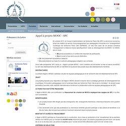 Appel à projets MOOC - SPC