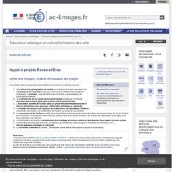 Appel à projets Rectorat/Drac - ac-limoges.fr