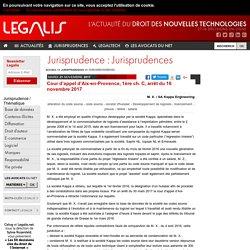 Cour d'appel d'Aix-en-Provence, 1ère ch. C, arrêt du 16 novembre 2017