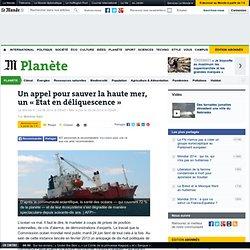 Un appel pour sauver la haute mer, un « Etat en déliquescence »