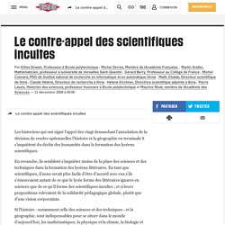 Le contre-appel des scientifiques incultes