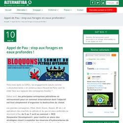 Appel de Pau : stop aux forages en eaux profondes