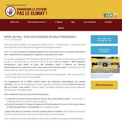 APPEL DE PAU : STOP AUX FORAGES EN EAUX PROFONDES !