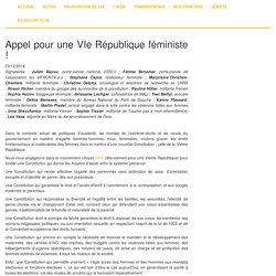 Appel pour une VIe République féministe !