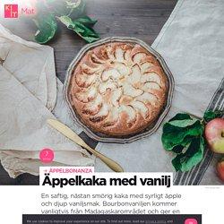 Äppelkaka med vanilj