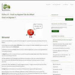 Fiche n°1 : Fruit ou légume? fin du débat! - Appellation Origine CampusAppellation Origine Campus