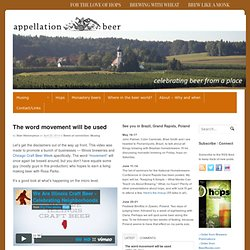 Appellation Beer: Celebrating Beer From a Place