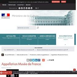 Appellation Musée de France