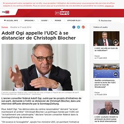 Adolf Ogi appelle l'UDC à se distancier de Christoph Blocher - rts.ch - Suisse
