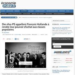 Des élus PS appellent François Hollande à rendre leur pouvoir d'achat aux classes populaires