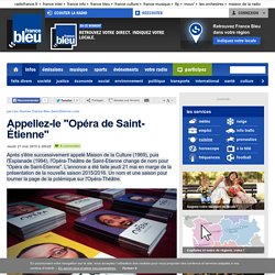 Article France bleu St Etienne du 21 Mai 2015