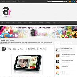 Fring - Les appels vidéos disponibles sur Android