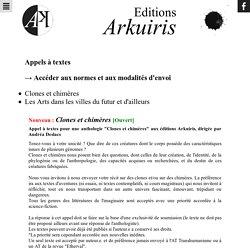 Appels à textes - Editions Arkuris