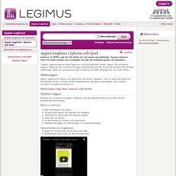 Appen Legimus i Iphone och Ipad - Legimus