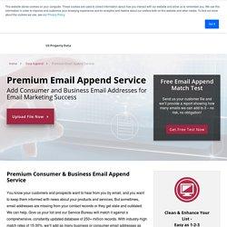 Email Append - Premium Service