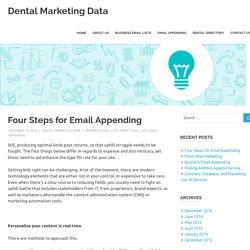 Four Steps for Email Appending - Dental Marketing Data