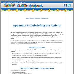Appendix A: Debriefing the Activity