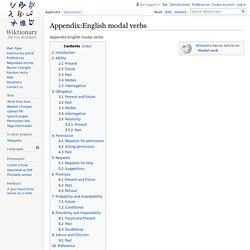 Appendix:English modal verbs