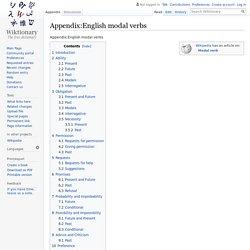 Appendix:English modal verbs