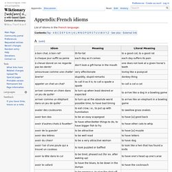 Appendix:French idioms - Wiktionary