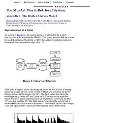 Appendix 1: The Hidden Markov Model