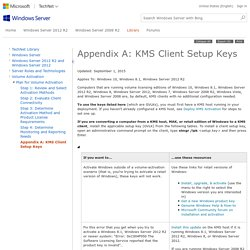 Appendix A: KMS Client Setup Keys
