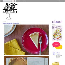 Bon Appétempt: Maple Buttermilk Custard Pie