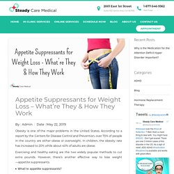 Appetite Suppressants for Weight Loss - What're They & How They Work