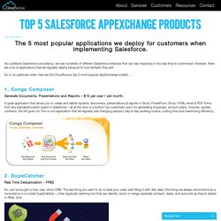 Top 5 Salesforce Appexchange Products