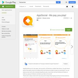 AppiSocial - We pay, you play! – Applications Android sur Google Play