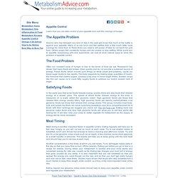 Appitite Control - MetabolismAdvice.com