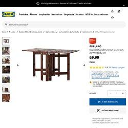 ÄPPLARÖ Klapptisch/außen - braun las. braun - IKEA Deutschland