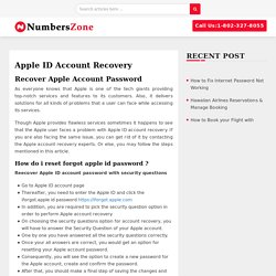 Apple ID Account Recovery : Recover Apple Account