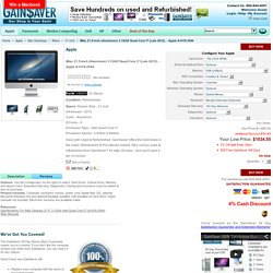 Used Apple iMac 21.5-inch (Aluminum) 3.1GHZ Quad Core i7 (Late 2012) A1418-2544 - GainSaver