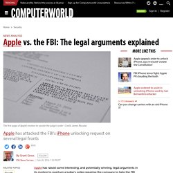 Apple vs. the FBI: The legal arguments explained