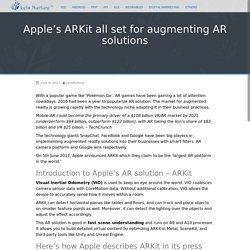 Apple's ARKit all Set for Augmenting AR Solutions - Blog