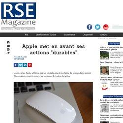 """Apple met en avant ses actions """"durables"""""""