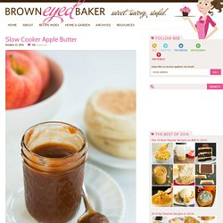 Apple Butter Recipe in Slow Cooker