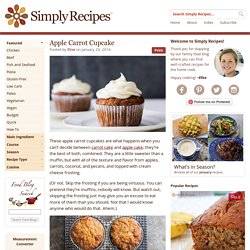 Apple Carrot Cupcake Recipe