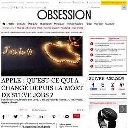 Apple : qu'est-ce qui a changé depuis la mort de Steve Jobs ? - 5 octobre 2012
