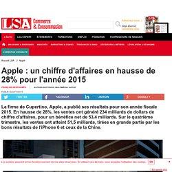 Apple : un chiffre d'affaires en hausse de 28%...