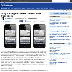 Why did Apple choose Twitter over Facebook? (Build 20110413222027)