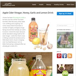 Apple Cider Vinegar, Honey, Garlic and Lemon Drink