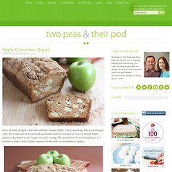 Quick Bread Recipe | Apple Cinnamon Bread | Two Peas and Their Pod