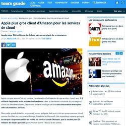 Apple plus gros client d'Amazon pour les services de cloud