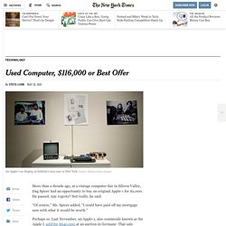 Apple-1 Computers Jump in Value at Auctions